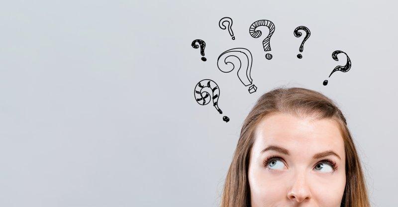 Woman questioning dental myths